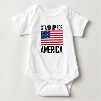 Stand Up For America Flag National Anthem Baby Bodysuit
