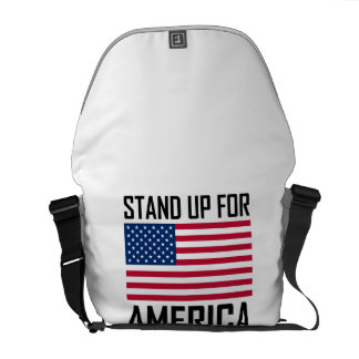 Stand Up For America Flag National Anthem Commuter Bag