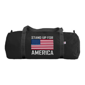 Stand Up For America Flag National Anthem Gym Bag