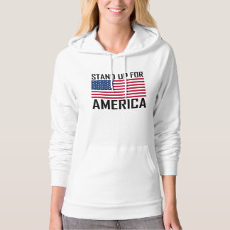 Stand Up For America Flag National Anthem Hoodie