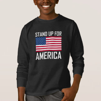 Stand Up For America Flag National Anthem T-Shirt
