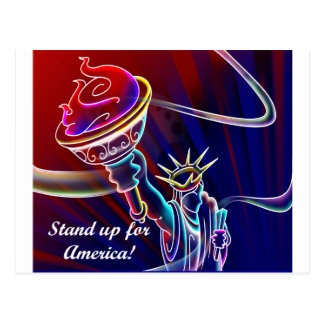 Stand Up for America! Postcard