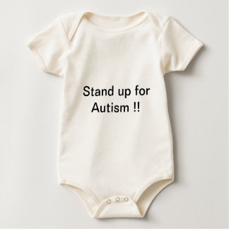 stand up for Autism !! Baby Bodysuit