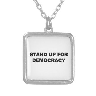 Stand Up for Democracy Silver Plated Necklace