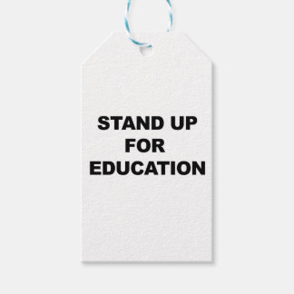 STAND UP FOR EDUCATION GIFT TAGS