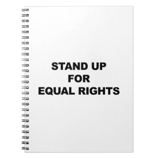 STAND UP FOR EQUAL RIGHTS NOTEBOOK