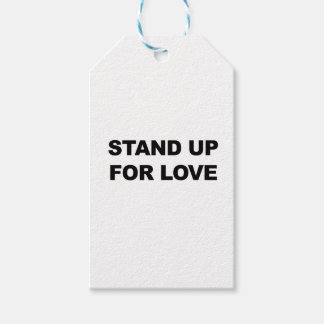 STAND UP FOR LOVE PACK OF GIFT TAGS