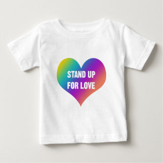 Stand Up for Love (Rainbow Heart) Baby T-Shirt