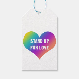 Stand Up for Love (Rainbow Heart) Pack Of Gift Tags