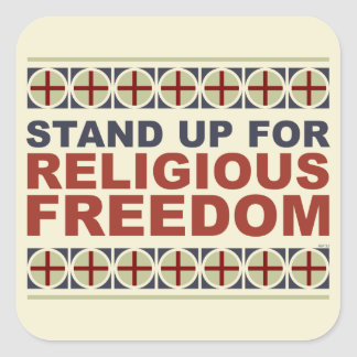 Stand Up For Religious Freedom Square Sticker