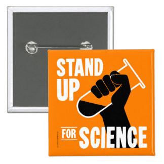 Stand Up for Science Test Tube 2 Inch Square Button