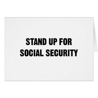 Stand Up for Social Security Card