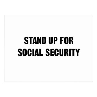 Stand Up for Social Security Postcard