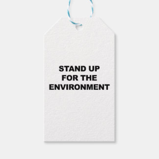STAND UP FOR THE ENVIRONMENT PACK OF GIFT TAGS