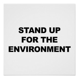 Stand Up for the Environment Protest Sign Perfect Poster