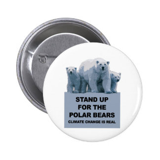 Stand Up for the Polar Bears 2 Inch Round Button
