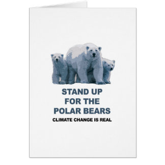 Stand Up for the Polar Bears Card