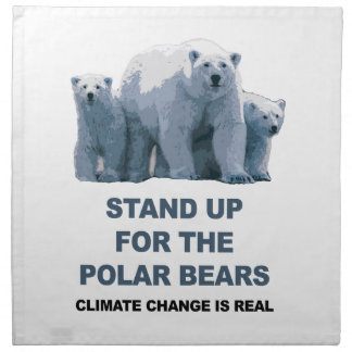Stand Up for the Polar Bears Napkin