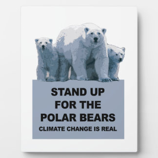 Stand Up for the Polar Bears Plaque