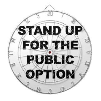 STAND UP FOR THE PUBLIC OPTION DARTBOARD WITH DARTS