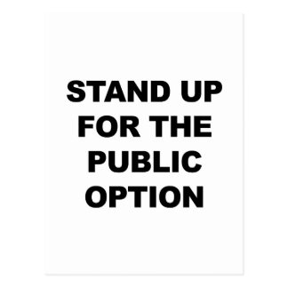 STAND UP FOR THE PUBLIC OPTION POSTCARD