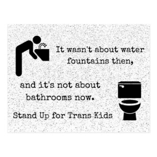 Stand Up for Trans Kids Protest Postcard