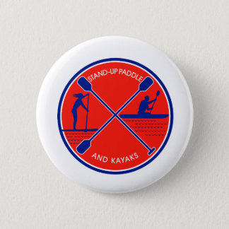 Stand-up Paddle and Kayak Circle Retro 2 Inch Round Button