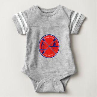 Stand-up Paddle and Kayak Circle Retro Baby Bodysuit