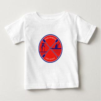 Stand-up Paddle and Kayak Circle Retro Baby T-Shirt