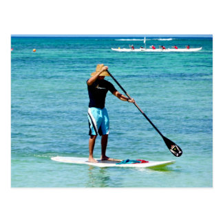Stand-up Paddle Board - Saipan, Micronesia Postcard