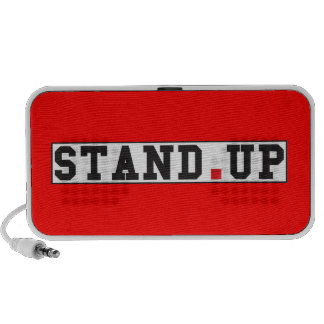 stand up text message emotion feel red dot square iPod speaker