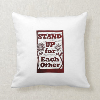 Stand Up (then take a rest) Throw Pillow