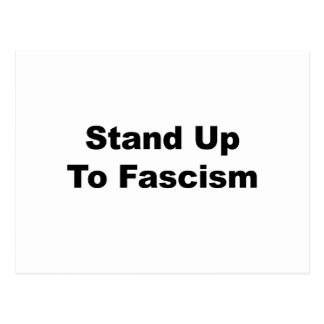 Stand Up to Fascism Postcard