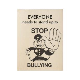 No Bullies Art Wall Decor Zazzle Ca