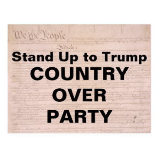 Stand Up To Trump Country Over Party Resistance Postcard