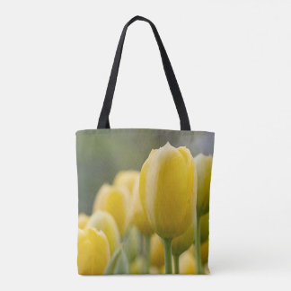 Stand Up Yellow Tulip Tote Bag