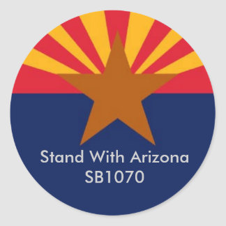 Stand With Arizona Round Sticker