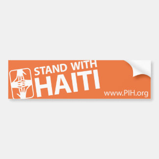STAND WITH HAITI bumper sticker