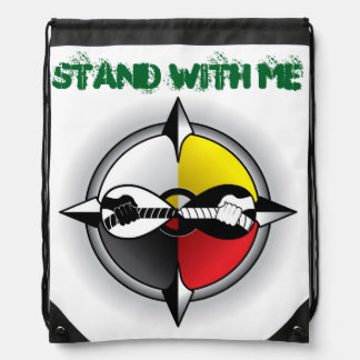 Stand With Me Common-Unity Symbol Drawstring Bag