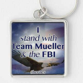 Stand with Mueller & FBI Keychain