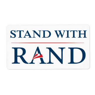 Stand With Rand Shipping Label