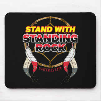 Stand With Standing Rock Water is Life Mouse Pad