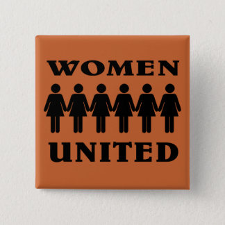 Stand with Women. 2 Inch Square Button