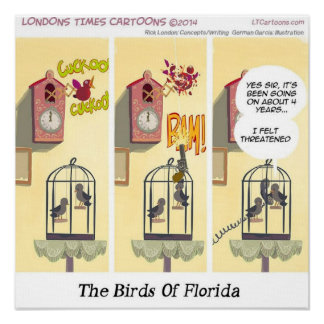 Stand Your Ground Funny Bird With Gun Poster