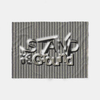STAND YOUR GROUND on In-Line Dots Fleece Blanket