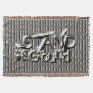 STAND YOUR GROUND on In-Line Dots Throw Blanket