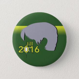 Standard, 2¼ Inch Round Button Jill 2016 Graphic