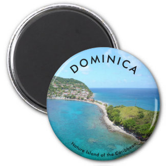 Standard, 2¼ Inch Round Magnet -DOMINICA