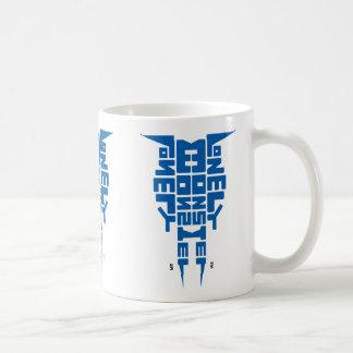 Standard 325 ml White Mug with Blue Totem logo