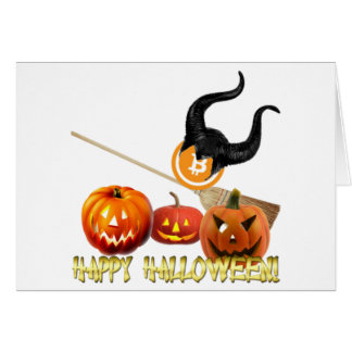 "Standard (5"" x 7"") – Happy Halloween with Bitcoin Card"